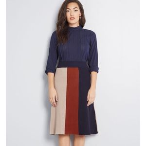 ModCloth Can't Stop Me Midi Colorblock Skirt